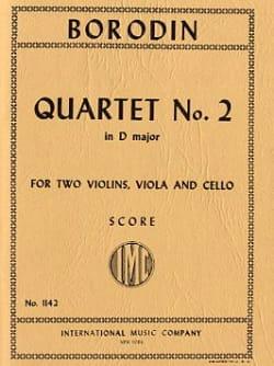 String Quartet n° 2 D major - Score BORODINE Partition laflutedepan