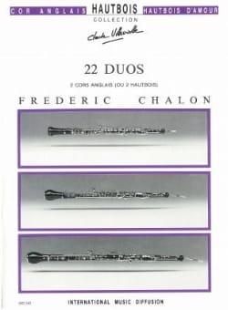 22 Duos Frédéric Chalon Partition Hautbois - laflutedepan