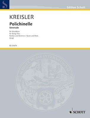 Polichinelle - Trio à Cordes - KREISLER - Partition - laflutedepan.com