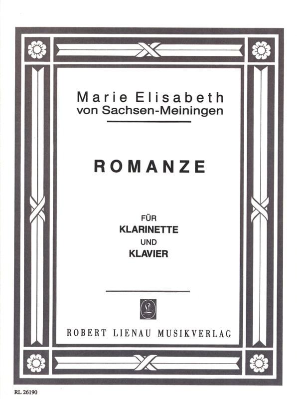 Romanze - Sachsen-Meiningen M. E. Von - Partition - laflutedepan.com