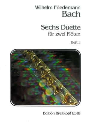 6 Duette, Heft 2 - 2 Flöten Wilhelm Friedemann Bach laflutedepan