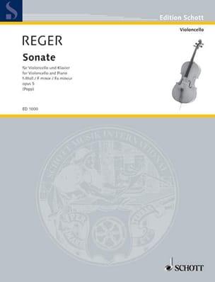 Sonate Op. 5 en Fa Mineur Max Reger Partition laflutedepan