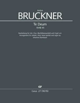 Te Deum, WAB 45 BRUCKNER Partition Grand format - laflutedepan