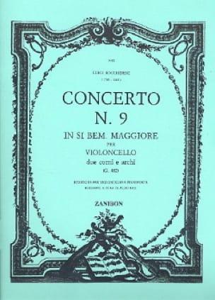 Concerto n° 9, si bémol majeur G. 482 - BOCCHERINI - laflutedepan.com