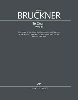 Te Deum, WAB 45 - BRUCKNER - Partition - laflutedepan.com