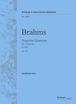 Tragische Ouvertüre D-Moll Op.81 BRAHMS Partition laflutedepan