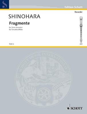 Fragmente Makoto Shinohara Partition Flûte à bec - laflutedepan
