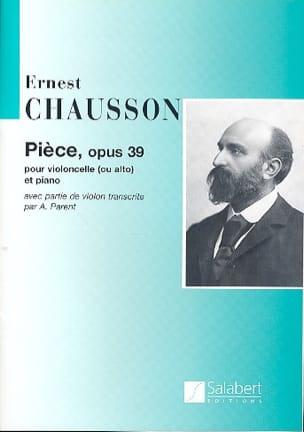 Pièce Opus 39 - Violoncelle CHAUSSON Partition laflutedepan
