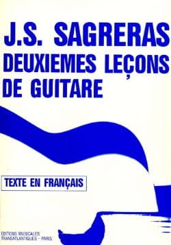 Deuxièmes leçons de guitare Julio S. Sagreras Partition laflutedepan