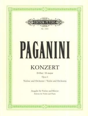 Konzert D-Dur , op. 6 PAGANINI Partition Violon - laflutedepan