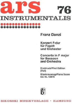 Konzert F-Dur -Fagott Klavier Franz Danzi Partition laflutedepan