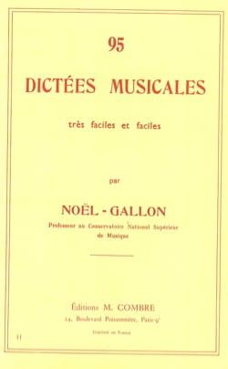 95 Dictées musicales Noël Gallon Partition laflutedepan