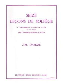 16 Leçons de solfège - 2 Clés A/A Jean-Michel Damase laflutedepan