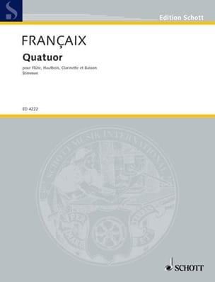 Quatuor à vent 1933 - Stimmen FRANÇAIX Partition laflutedepan