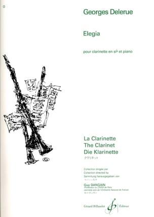 Elegia Georges Delerue Partition Clarinette - laflutedepan