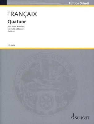 Quatuor à vent 1933 - Score FRANÇAIX Partition laflutedepan