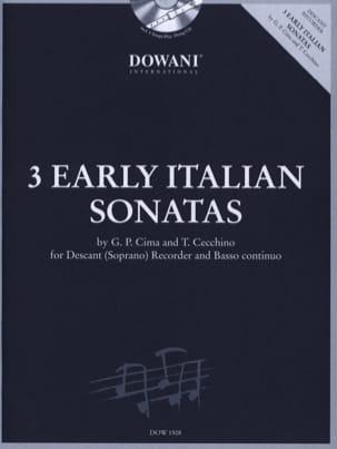 3 Early italians Sonatas - Descant recorder Bc laflutedepan