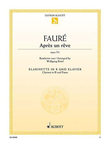 Après un rêve - FAURÉ - Partition - Clarinette - laflutedepan.com