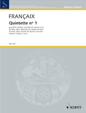 Quintette N°1 1948 - Score FRANÇAIX Partition laflutedepan