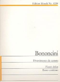 Divertimento da camera c-Moll Giovanni Battista Bononcini laflutedepan