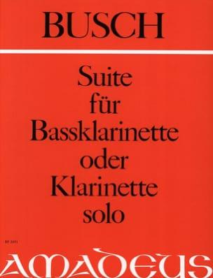 Suite für Bassklarinette solo o. Klarinette Adolf Busch laflutedepan