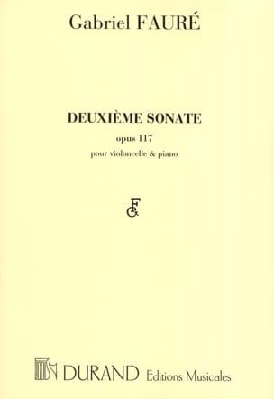 Sonate n° 2 op. 117 FAURÉ Partition Violoncelle - laflutedepan