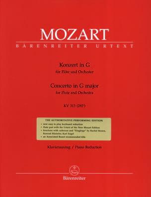 MOZART - Concerto for flute in G Major Solo KV 313 - Piano Flute - Partition - di-arezzo.co.uk