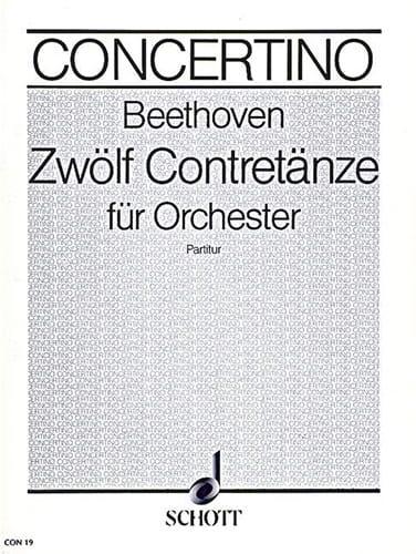 12 Contretänze für Orchester - BEETHOVEN - laflutedepan.com