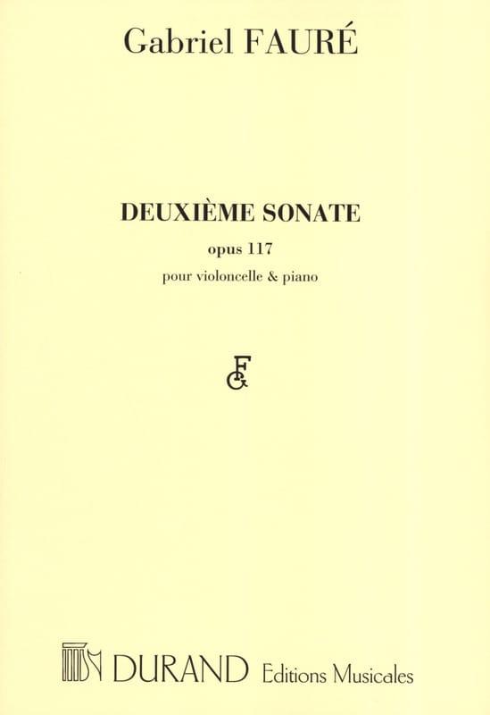 Sonate n° 2 op. 117 - FAURÉ - Partition - laflutedepan.com