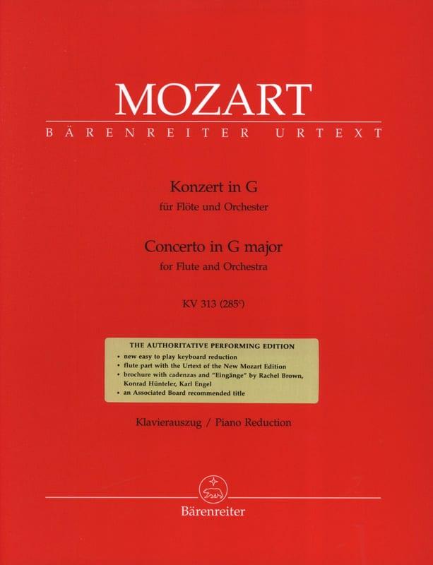 Concerto pour flûte en Sol Majeur KV 313 - Flute Piano - laflutedepan.com