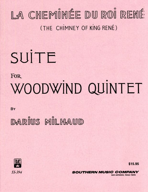La cheminée du Roi René -Woodquintet - Score + parts - laflutedepan.com
