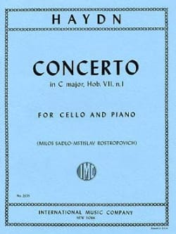 Concerto in C major, Hob. 7, n°1 HAYDN Partition laflutedepan