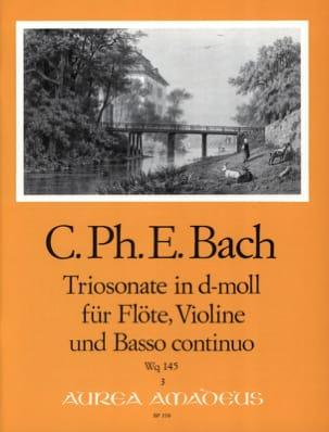 Triosonate D Moll Wq 145 -flöte Violine U. Bc laflutedepan
