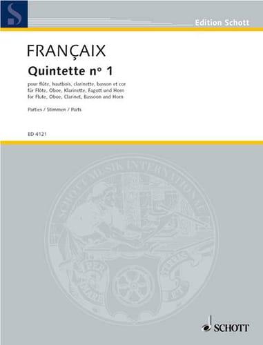 Quintette N°1 1948 - Parties - FRANÇAIX - Partition - laflutedepan.com