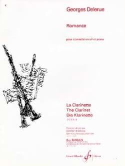 Romance Georges Delerue Partition Clarinette - laflutedepan