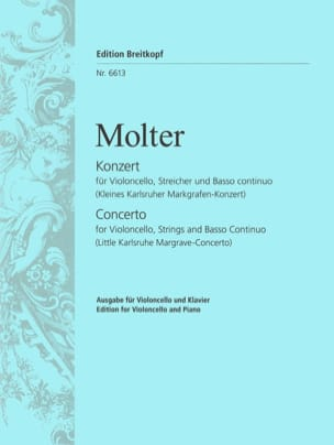 Concerto - Violoncelle Johann Melchior Molter Partition laflutedepan
