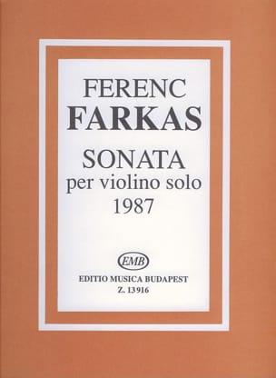 Ferenc Farkas - Sonata - Partition - di-arezzo.com
