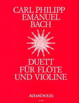 Duett - Flöte und Violine Carl Philipp Emanuel Bach laflutedepan