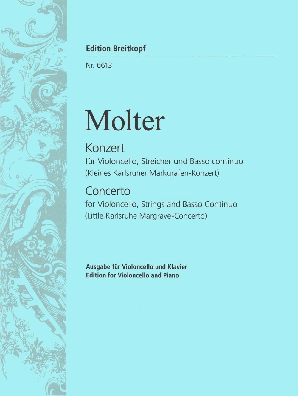 Concerto - Violoncelle - Johann Melchior Molter - laflutedepan.com