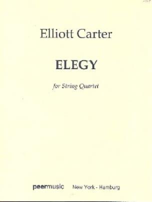 Elegy - String quartet - Conducteur - laflutedepan.com