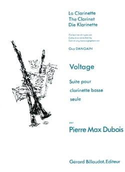 Voltage Pierre-Max Dubois Partition Clarinette - laflutedepan