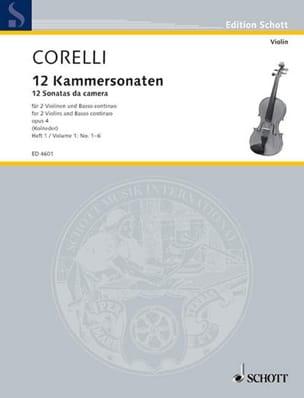 12 Kammersonaten Op. 4 Bd. 1 : Nr. 1-6 CORELLI Partition laflutedepan