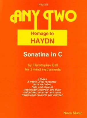 Sonatina in C - 2 wind instruments - laflutedepan.com