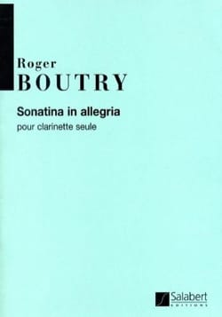 Sonatina In Allegria Roger Boutry Partition Clarinette - laflutedepan