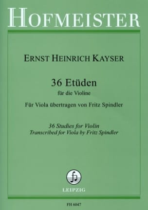 36 Etudes - Alto Heinrich Ernst Kayser Partition Alto - laflutedepan