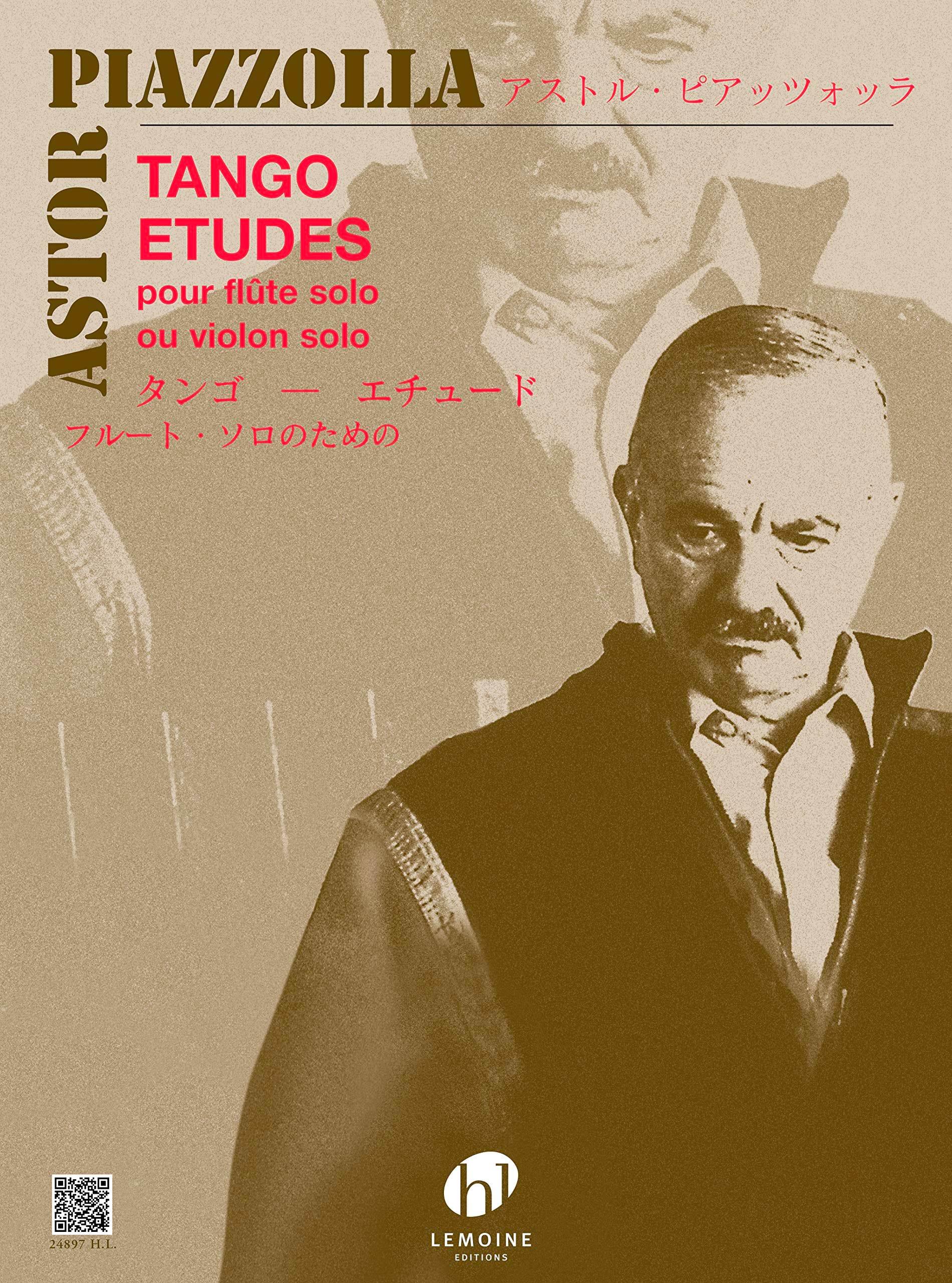 Tango-Etudes - Flute ou Violon - Astor Piazzolla - laflutedepan.com