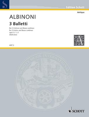 3 Balletti - op. 3 n° 1-3 ALBINONI Partition Trios - laflutedepan