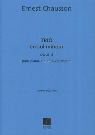 Trio en sol mineur op. 3 CHAUSSON Partition Trios - laflutedepan