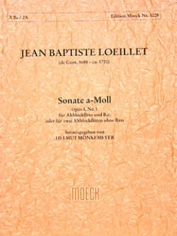 Sonata A-Moll La Min. - Flûte à Bec Alto et Bc laflutedepan