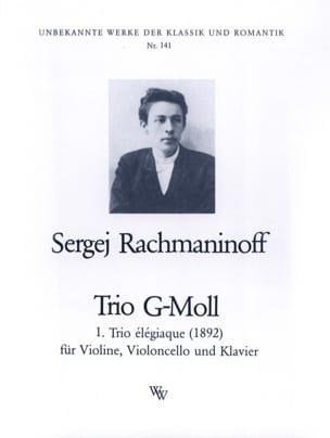 Trio Elégiaque en Sol Min 1892 RACHMANINOV Partition laflutedepan